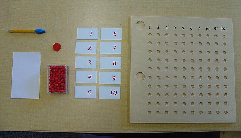 matemática e montessori